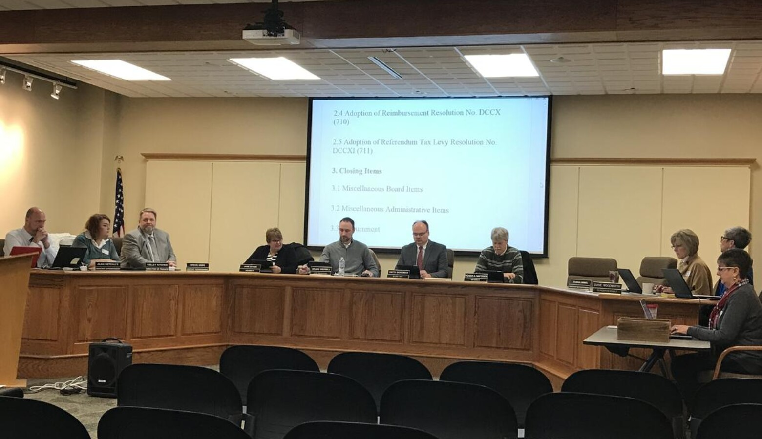 Goshen School Board members approve a revised plan to address district-wide overcrowding issues. School boards have the power to do things like propose local tax increases that impact the broader community. (FILE PHOTO: Bárbara Anguiano/IPB News)