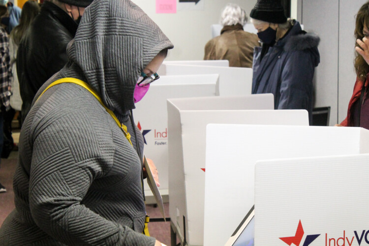 School leaders say they're reaching fewer older voters with their referendum campaign messaging compared to other age groups, but are encouraged by the amount of people getting out to vote ahead of Election Day. (Lauren Chapman/IPB News)