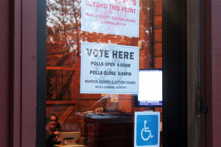 Poll watchers are a very defined role in state election law. (Lauren Chapman/IPB News)