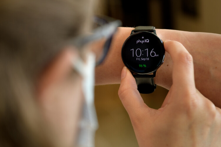 Purdue University researchers are helping to develop physIQ software that could indicate that a person should get tested for COVID-19 by detecting specific changes in heart and breathing rates while wearing a smartwatch. (Courtesy of John Underwood/Purdue