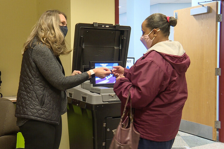 Sixty-five percent of registered voters cast a ballot in Indiana's 2020 general election, the most since 1992. (Lauren Chapman/IPB News)
