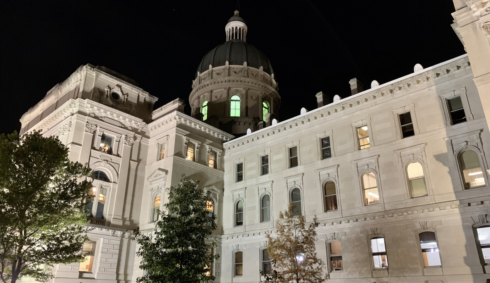 Gov. Eric Holcomb is shutting down state government buildings in Indianapolis leading up to President-elect Joe Biden's inauguration. (Brandon Smith/IPB News)