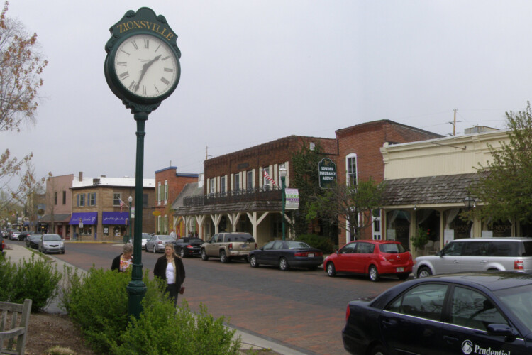 Zionsville is one of nine local governments in Indiana that will undertake projects to reduce their greenhouse gas emissions. (Chris Light/Wikimedia Commons)