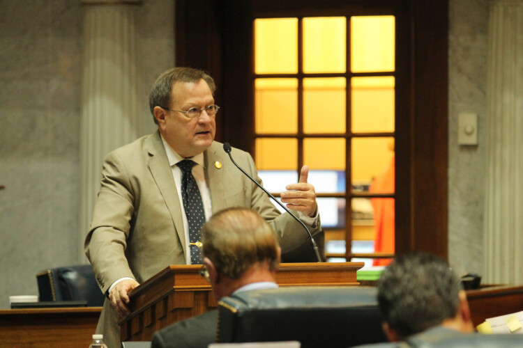 Sen. Mike Young said there are examples from across the country where prosecutors announced they categorically won't charge people for certain crimes. (Lauren Chapman/IPB News)