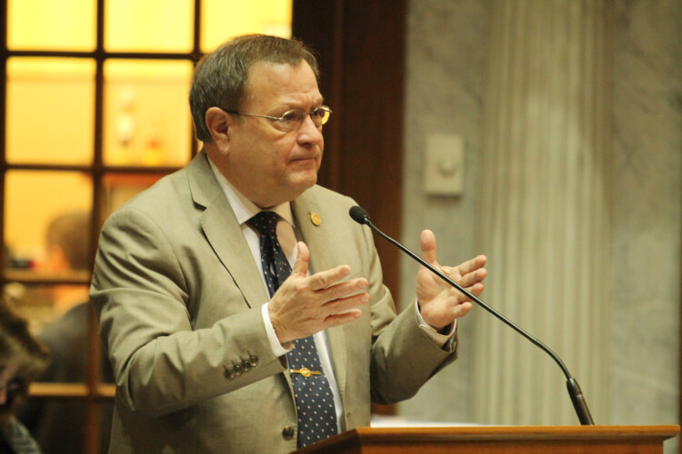 Sen. Mike Young (R-Indianapolis) claims his bill is not about the Marion County prosecutor's decision not to charge people for simple marijuana possession. (Lauren Chapman/IPB News)