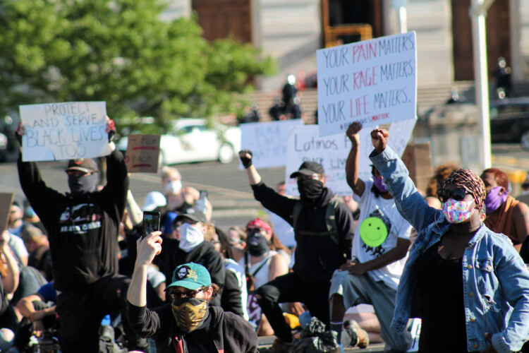 Sen. Mike Young's (R-Indianapolis) bill, which is aimed at last summer's Black Lives Matter protests, passed committee along party lines. (Lauren Chapman/IPB News)