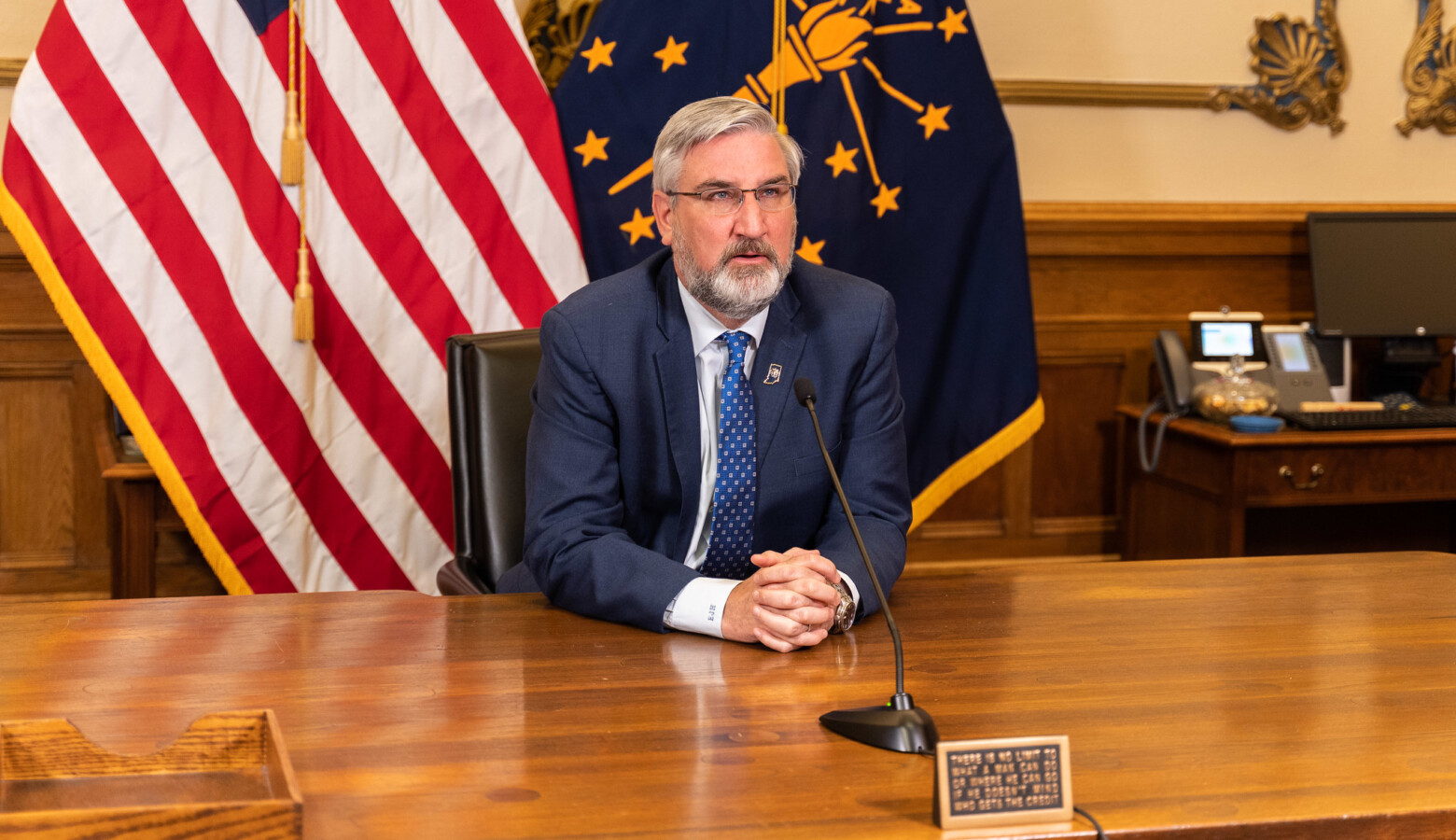 Gov. Eric Holcomb announced in a statewide address he will end all statewide COVID-19 restrictions on April 6. (Courtesy of the governor's office)