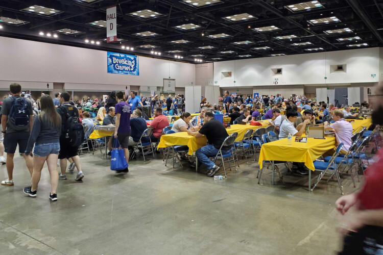 Attendees play games at the 2019 Gen Con in Indianapolis Saturday, Aug. 3. (Samantha Horton/IPB News)