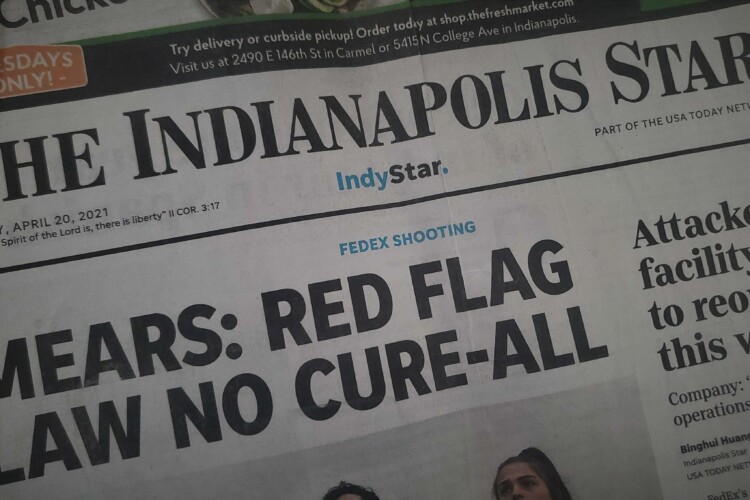 The front cover of the Indianapolis Star, one of the Indiana newspapers owned by Gannett. (Samantha Horton/IPB News)