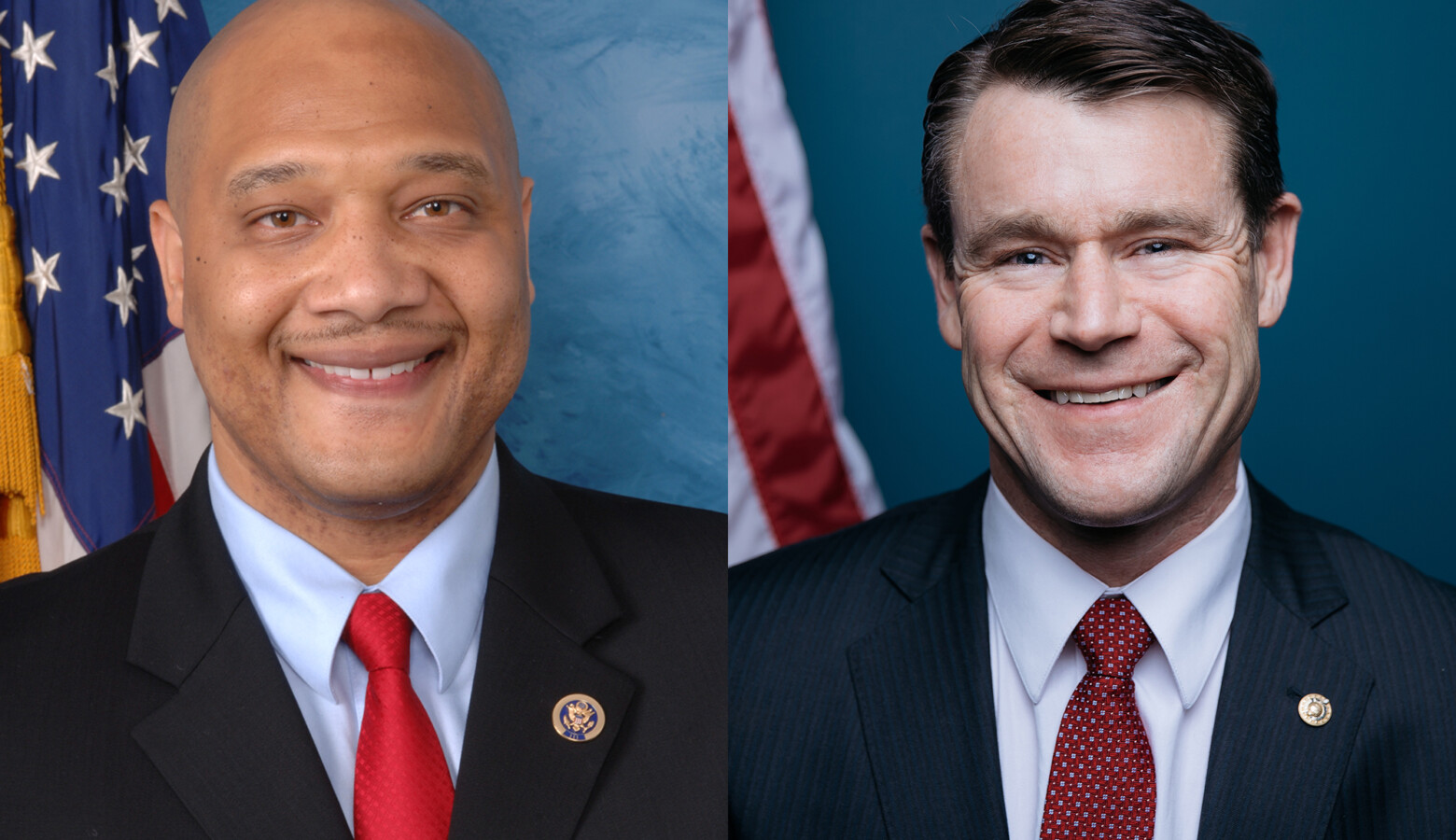 U.S. Rep. André Carson (D-Indianapolis), left, is a strong backer of President Joe Biden's agenda. U.S. Sen. Todd Young (R-Ind.), right, said there are some areas of agreement. (Congress.gov)