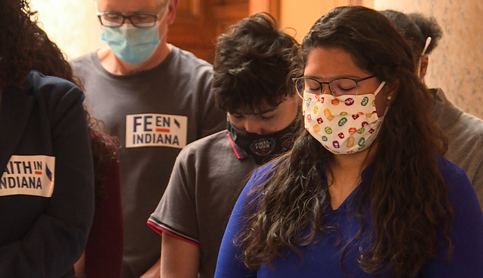 Members of Faith In Indiana gathered at the Statehouse Tuesday to advocate for gun violence intervention and a summer study committee for driving cards. (Lauren Chapman/IPB News)