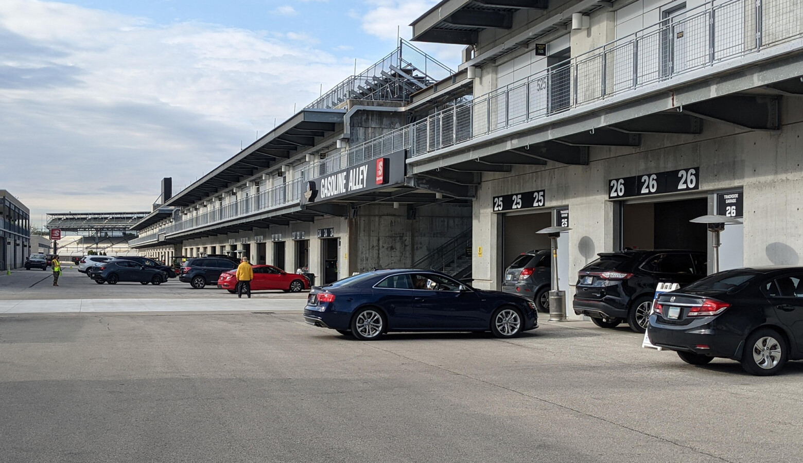 Hoosiers with appointments at the Indianapolis Motor Speedway received Moderna vaccines on Tuesday, after the state paused use of the Johnson & Johnson vaccine. (Lauren Chapman/IPB News)
