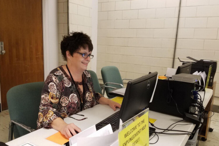 Julie Mennel is the expungement help desk manager for the Neighborhood Christian Legal Clinic in Indianapolis. She helps clients navigate the expungement process and seal their records from public view.
