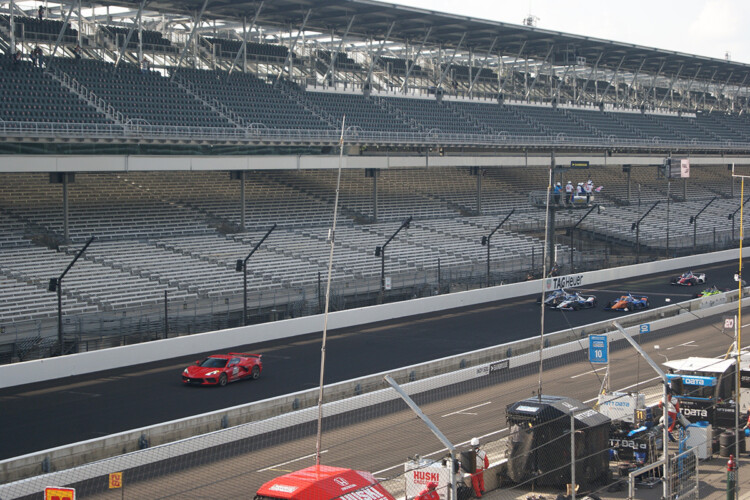 The 2020 Indianapolis 500 ran without fans in the stands in late August. (Samantha Horton/IPB News)