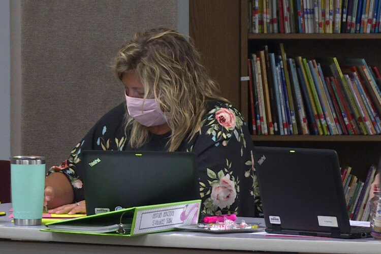 School leaders in Indiana are unlikely to require staff to get a COVID-19 vaccine because of possible legal repercussions if an employee chooses not to get one. (Jeanie Lindsay/IPB News)