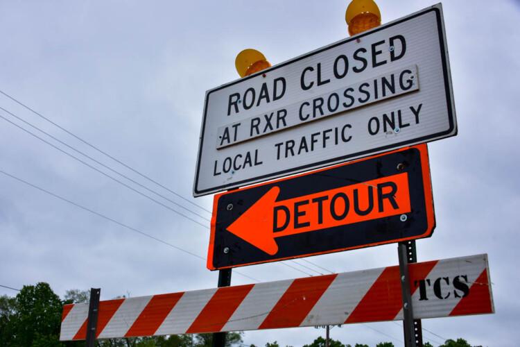 A detour warning sign for roadwork near Elkhart, Indiana. (Justin Hicks/IPB News)