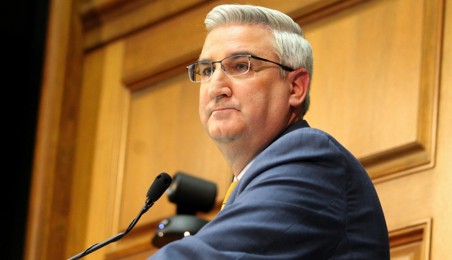 Gov. Eric Holcomb has vetoed three bills from the 2021 legislative session. That's the most in a single year in nearly a decade. (Lauren Chapman/IPB News)