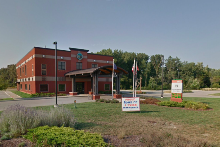 The headquarters of Iron Workers Local #395 in Portage, Indiana. (Courtesy of Google Maps)