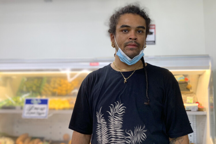 Torian Jones has severe asthma, so he wanted to stay home during the COVID-19 pandemic, but he couldn't afford to quit his grocery store job.
