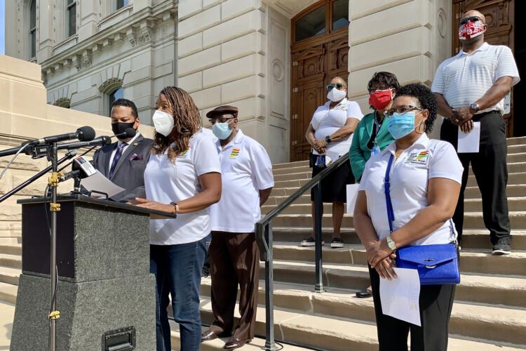 The Indiana Black Legislative Caucus unveiled the beginnings of its justice reform agenda in June 2020. (Brandon Smith/IPB News)