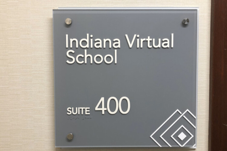 The office of the former headquarters for Indiana Virtual School and Indiana Virtual Pathways Academy was on East 96th Street in Indianapolis.